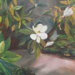 Nola Magnolias 24 x 30 oil on canvas by Larkin Green