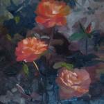 Voodoo Rose 18 x 24 oil on linen by Larkin Green