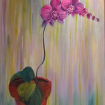 orchid for Mary 24 x 30 oil on canvas by Larkin Green
