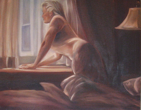 Rear Window 24 x 30 oil on canvas by Patricia Larkin Green