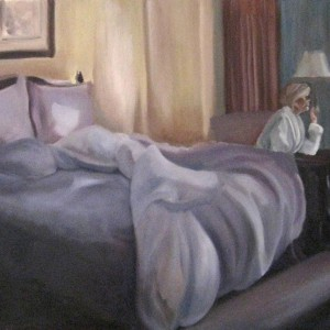 Unmade Bed Ritz Carleton PHX oil painting by Patricia Larkin Green