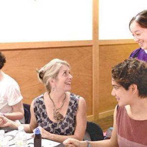 Larkin Green Sensei studying with Chiba Sensei at The Japanese Cultural Center