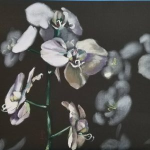 Asian Orchids 16 x 20 oil painting by Patricia Larkin Green