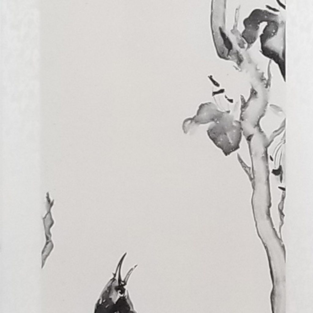 Autumn Fragrance Sumi-e Scroll by Patricia Larkin Green